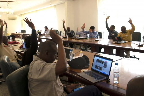 Participants of the FSC working group voting, Brazzaville August 2017